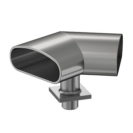30x80 Oval Profil Mafsallı 135˚ Köşe Bağlantı Takımı